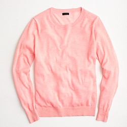 Italian featherweight cashmere boyfriend crewneck sweater