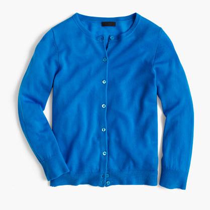 Italian featherweight cashmere cardigan sweater