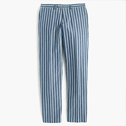 Bowery slim pant in variegated-stripe cotton
