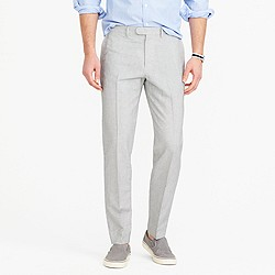 Bowery classic pant in fine-striped cotton-linen