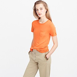 Collection featherweight cashmere short-sleeve pocket T-shirt