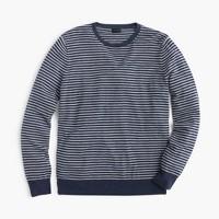 Lightweight Italian cashmere crewneck sweater in stripe