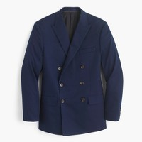 Ludlow double-breasted suit jacket in Italian chino