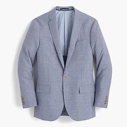 Ludlow suit jacket in houndstooth Italian linen-wool