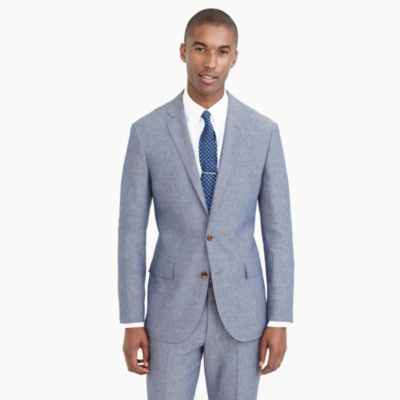 Ludlow suit jacket in Italian wool-linen