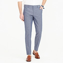 Ludlow suit pant in Italian wool-linen