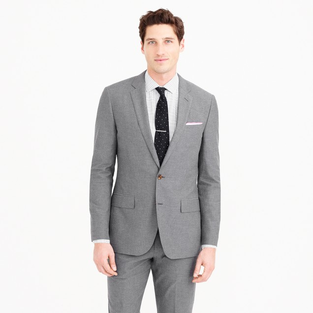 Ludlow suit jacket in Italian cotton oxford cloth