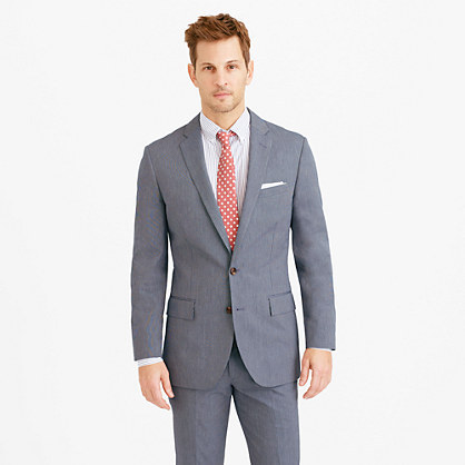 Ludlow suit jacket in microstripe Italian cotton
