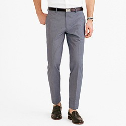 Ludlow suit pant in microstripe Italian cotton