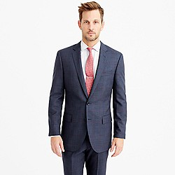 Ludlow suit jacket in windowpane Italian wool