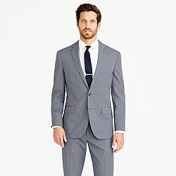 Crosby suit jacket in Italian microstripe cotton