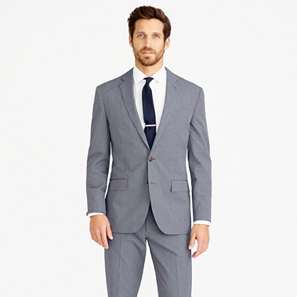 Crosby suit jacket in Italian microstripe cotton