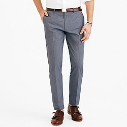 Crosby suit pant in Italian microstripe cotton