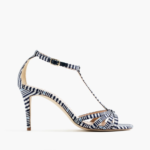 Printed multistrap sandals
