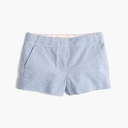 Girls' Frankie short in horizontal seersucker