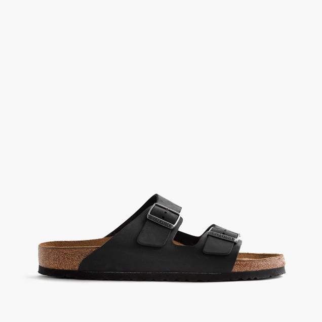 Men's Birkenstock® Arizona sandals in oiled black leather
