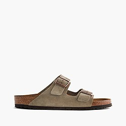 Men's Birkenstock® Arizona sandals in taupe suede