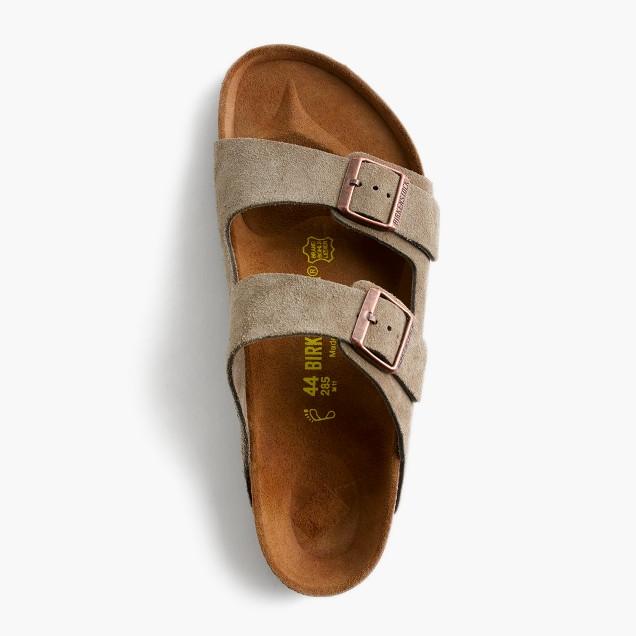 Men's Birkenstock® Arizona sandals in taupe suede