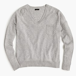 Collection cashmere pocket V-neck sweater
