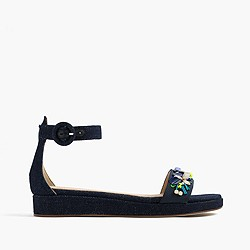 Embellished flatform sandals