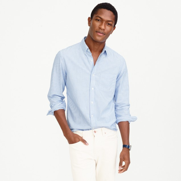 Slim lightweight oxford shirt in stripe