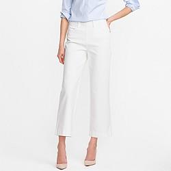 Side-zip Rayner jean in white