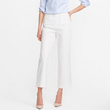 Tall side-zip Rayner jean in white