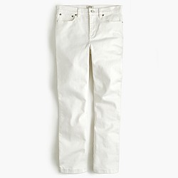 Billie demi-boot crop jean in white
