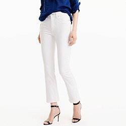 Petite Billie demi-boot crop jean in white