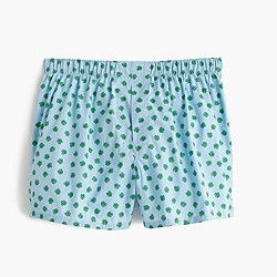 Four-leaf clover print boxers