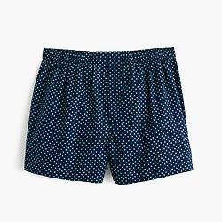 Navy dot boxers
