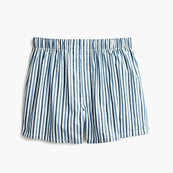 Blue-striped boxers