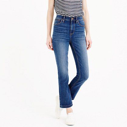 Billie demi-boot crop jean in Bergen wash