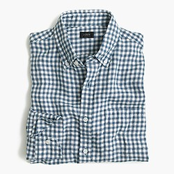 Irish linen shirt in délavé Antrim gingham