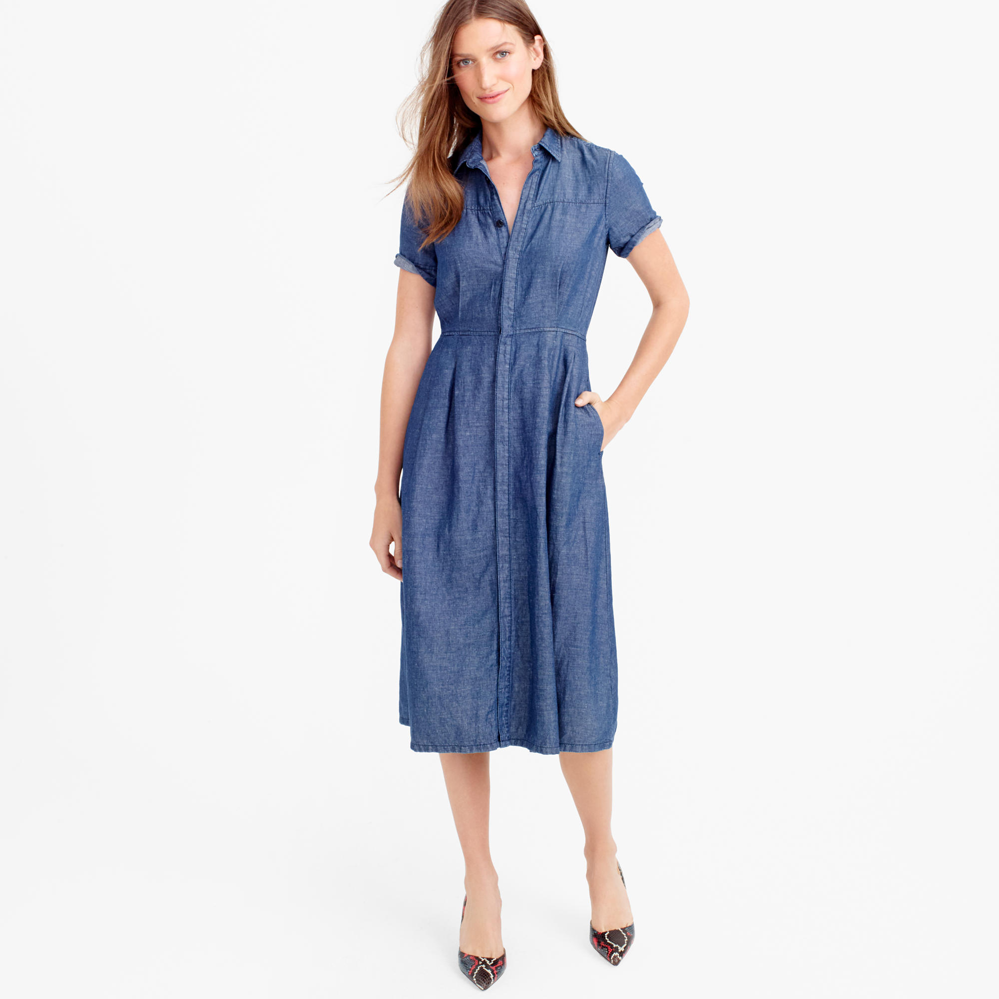 Denim shirtdress :  J.Crew