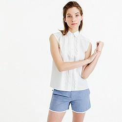 Sleeveless scalloped shirt