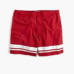 """6.5"""" tab swim short in harbor stripe"""