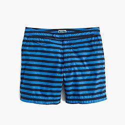 """6.5"""" tab swim short in black stripe"""