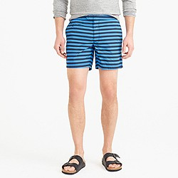 "6.5"" tab swim short in black stripe"