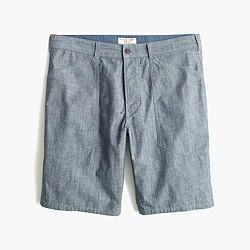 "9"" naval short in indigo chambray"