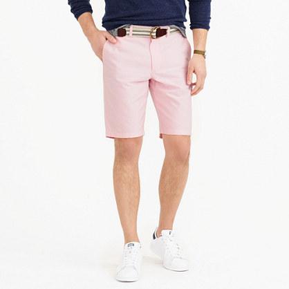 "10.5"" club short in pink oxford cloth"