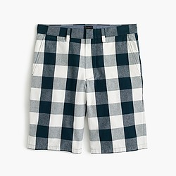 """10.5"""" club short in large gingham"""