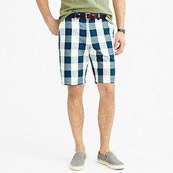 "10.5"" club short in large gingham"