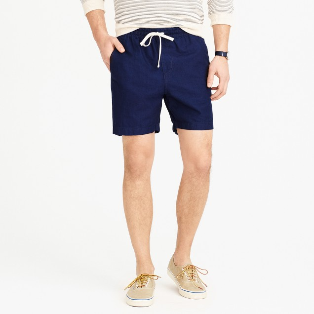 Dock short in indigo