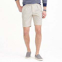 Wallace & Barnes double-pleated short in seeded canvas