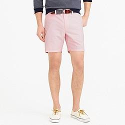 "7"" club short in pink oxford cloth"