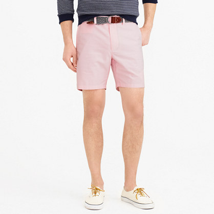"7"" club short in pink oxford cloth"
