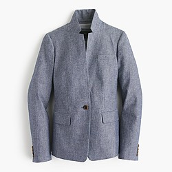 Tall Regent blazer in chambray