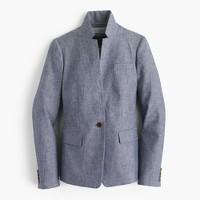 Petite Regent blazer in chambray