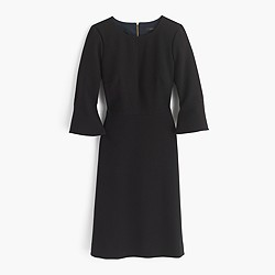 Petite bell-sleeve crepe dress
